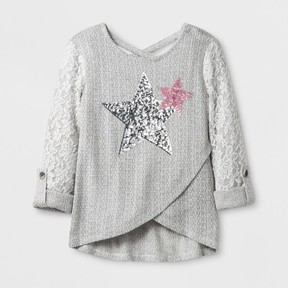 Miss Chievous Girls' Long Sleeve Top - Gray