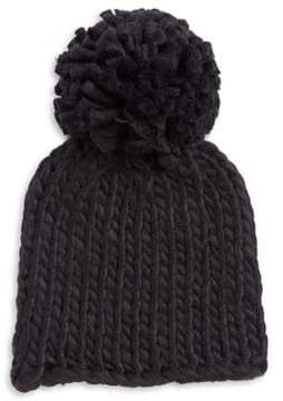 BCBGeneration Embroidered Pom Beanie