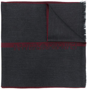 Emporio Armani jacquard logo scarf