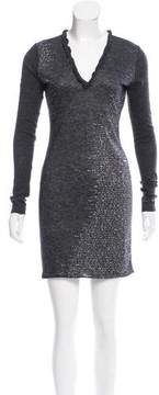 CNC Costume National Glitter-Accented Jersey Dress w/ Tags