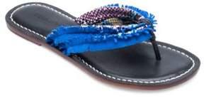 Bernardo Miami Fringe Leather and Suede Sandals