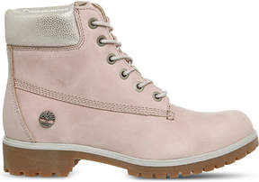 Timberland Ladies Pink Iconic Slim Premium 6-Inch Leather Boots