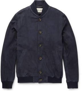 Oliver Spencer Slim-Fit Suede Bomber Jacket