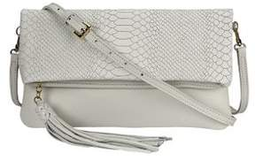 GiGi New York Stella Fold-Over Leather Convertible Clutch