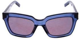 Saint Laurent Reflective Square Sunglasses