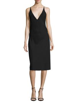 Veda Women's Valencia Solid Midi Slip Dress