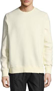 Ovadia & Sons Distressed Pullover Sweatshirt