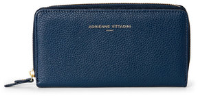 adrienne vittadini Navy Pebbled Snap & Zip Wallet