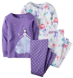 Carter's Baby Clothing Outfit Girls 4-Piece Snug Fit Cotton PJs Fairy Tale Princess