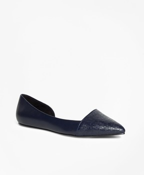 Brooks Brothers Woven Leather Flats