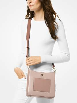 MICHAEL Michael Kors Gloria Tri-Color Leather Messenger
