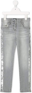 Karl Lagerfeld jeans with paint effect