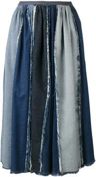 Antonio Marras contrast pleated skirt