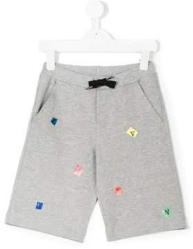 Lanvin Enfant multi-logo track shorts