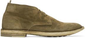 Officine Creative Tan Suede Standard 5 Boots