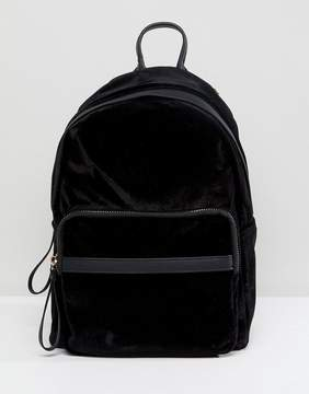 New Look Black Velvet Back Pack