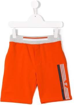 Emporio Armani Kids logo printed shorts