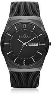 Skagen Men's Black Steel Watch.