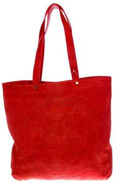 Tory Burch Suede Logo Tote
