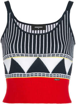 DSQUARED2 embroidered cropped tank top