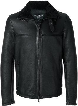 Hydrogen shearling biker Jacket