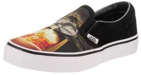 Vans Kids Classic Slip-On (Alien Attack) Blk/Truewht Skate Shoe 1 Kids US