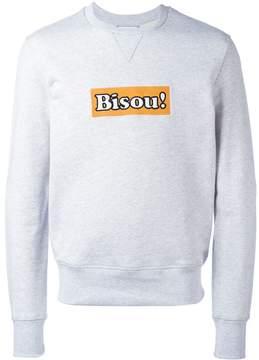 Ami Alexandre Mattiussi embroidered Bisou! sweatshirt