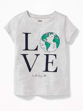 Old Navy 2018 Earth Day Love Tee for Toddler Girls