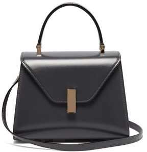 Valextra Iside Mini Leather Bag - Womens - Dark Grey