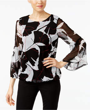 Alfani Embroidered Top, Created for Macy's