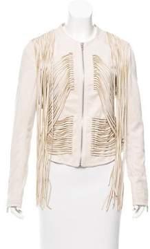 Blank NYC Fringe Accented Tailored Jacket