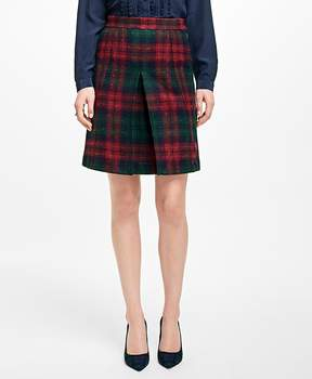 Brooks Brothers Tartan Wool Skirt