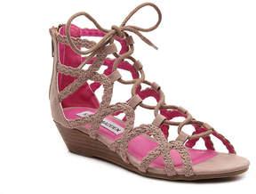 Steve Madden Girls Chelsey Youth Wedge Sandal
