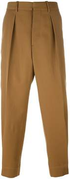 Marni front pleat tapered trousers