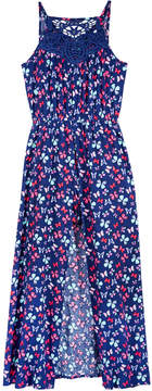 Epic Threads Butterfly-Print Maxi-Overlay Romper, Big Girls, Created for Macy's