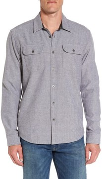 Prana Men's Lybek Regular Fit Herringbone Flannel Shirt