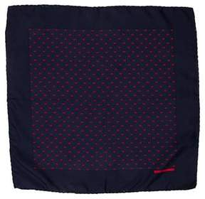 Hermes Silk H Logo Print Pocket Square