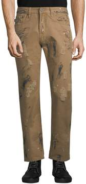 Mostly Heard Rarely Seen Men's Gonzo Cotton Paint Pants