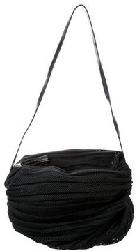 Emporio Armani Leather-Trimmed Mesh Shoulder Bag