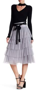 Do & Be Do + Be Tiered Tulle Maxi Skirt