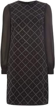 Dorothy Perkins **Tall Black Embellished Shift Dress