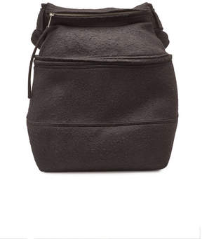 Rick Owens Backpack with Camel Hair and Linen