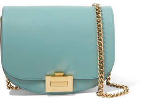 Victoria Beckham Half Moon Box Chain Leather Shoulder Bag - Light blue