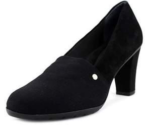 Giani Bernini Dalisa Women Round Toe Canvas Black Heels.