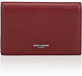 Saint Laurent Women's Flap Wallet - BURGUNDY,RED - STYLE