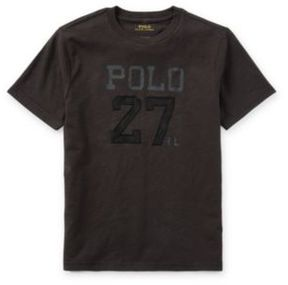 Ralph Lauren Cotton Jersey Graphic T-Shirt Boot Black S