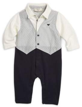 Armani Junior Infant's Cotton Vested Coverall