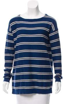 Closed Stripped Long Sleeve Sweater