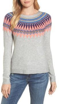 Caslon Women's Tie Back Patterned Sweater