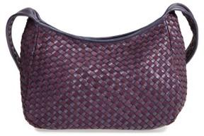 Robert Zur Small Delia Woven Leather Hobo - Purple